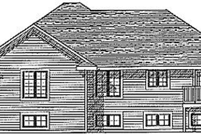 Traditional Exterior - Rear Elevation Plan #70-179 - Houseplans.com