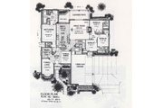 Colonial Style House Plan - 4 Beds 3.5 Baths 2674 Sq/Ft Plan #310-850 Floor Plan - Main Floor