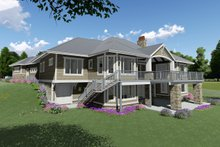 House Plan Design - Craftsman Exterior - Rear Elevation Plan #1069-14