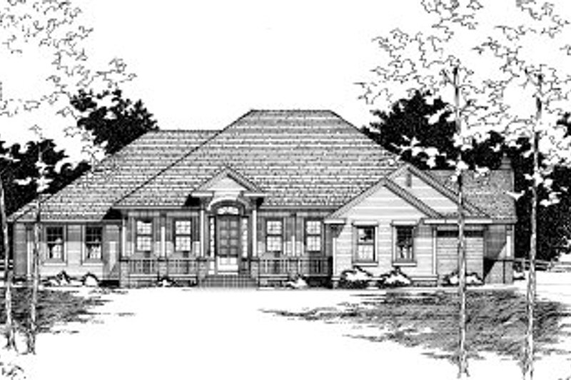 Home Plan - Traditional Exterior - Front Elevation Plan #20-148