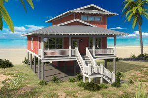 House Design - Beach Exterior - Front Elevation Plan #932-274
