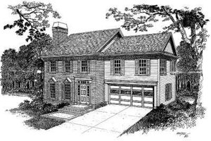 Colonial Exterior - Front Elevation Plan #322-114