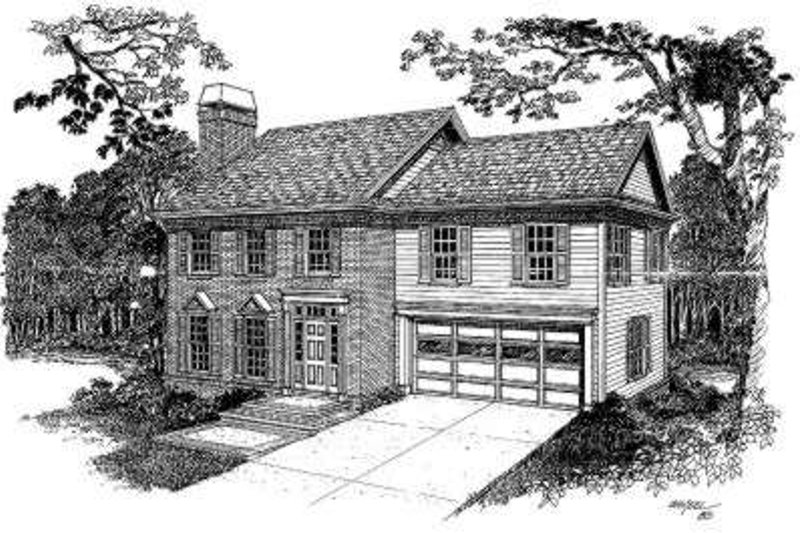 Colonial Style House Plan - 3 Beds 2.5 Baths 2278 Sq/Ft Plan #322-114 Exterior - Front Elevation