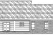 Ranch Style House Plan - 3 Beds 2 Baths 1701 Sq/Ft Plan #21-156 Exterior - Rear Elevation