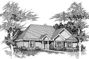 Cottage Style House Plan - 3 Beds 2 Baths 1121 Sq/Ft Plan #329-158 Exterior - Front Elevation