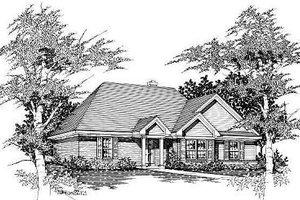 Cottage Exterior - Front Elevation Plan #329-158
