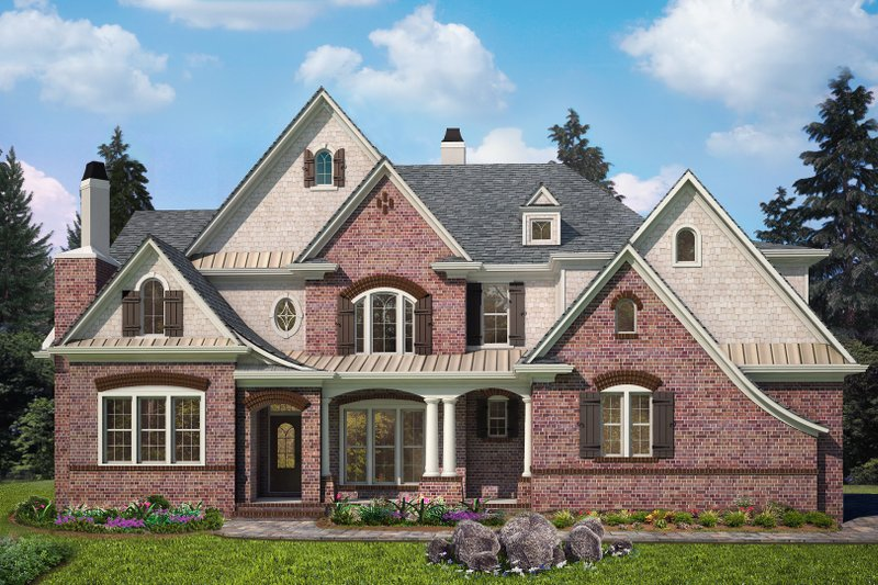 Dream House Plan - Traditional Exterior - Front Elevation Plan #54-414