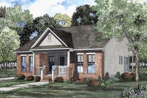 Southern Exterior - Front Elevation Plan #17-435