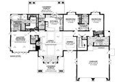 Craftsman Style House Plan - 3 Beds 2.5 Baths 2248 Sq/Ft Plan #942-58 Floor Plan - Main Floor Plan