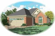 Traditional Style House Plan - 3 Beds 2 Baths 1778 Sq/Ft Plan #81-288 Exterior - Front Elevation