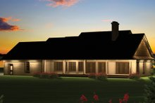 Architectural House Design - Country Exterior - Rear Elevation Plan #70-1050