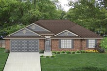 Ranch Exterior - Front Elevation Plan #84-549