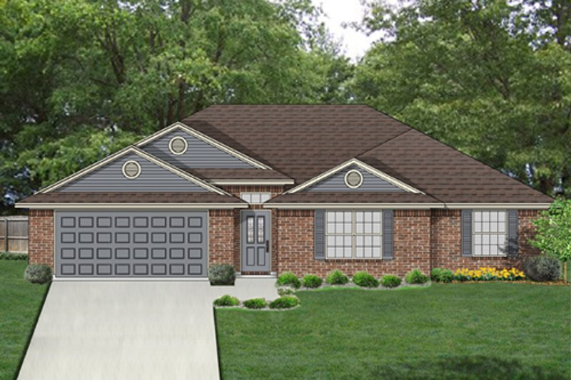 Ranch Exterior - Front Elevation Plan #84-549 - Houseplans.com