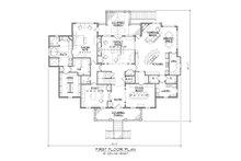 Classical Floor Plan - Main Floor Plan Plan #1054-81