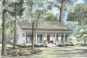 Country Style House Plan - 3 Beds 2 Baths 1381 Sq/Ft Plan #17-1051 Exterior - Front Elevation