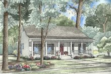 Home Plan - Country Exterior - Front Elevation Plan #17-1051