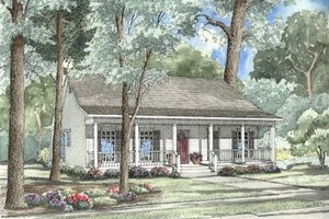 Country Exterior - Front Elevation Plan #17-1051