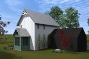 Farmhouse Style House Plan - 2 Beds 2 Baths 1200 Sq/Ft Plan #933-8 Exterior - Rear Elevation