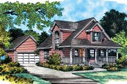 Farmhouse Style House Plan - 3 Beds 2 Baths 1170 Sq/Ft Plan #417-108 Exterior - Front Elevation