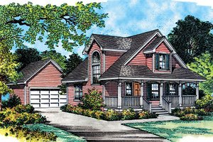 Farmhouse Exterior - Front Elevation Plan #417-108
