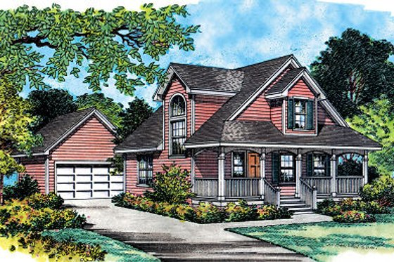 Farmhouse Exterior - Front Elevation Plan #417-108