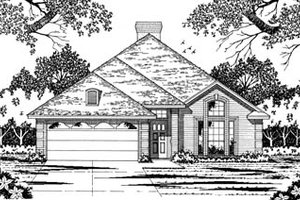 Traditional Exterior - Front Elevation Plan #42-110
