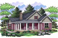 Farmhouse Exterior - Front Elevation Plan #51-349