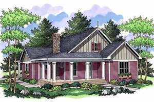 Farmhouse Exterior - Front Elevation Plan #51-349