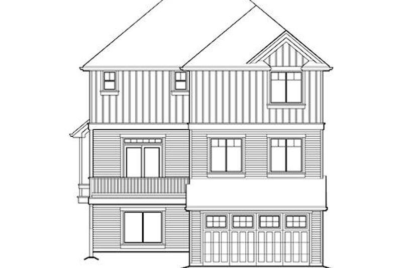 Traditional Exterior - Rear Elevation Plan #48-504 - Houseplans.com