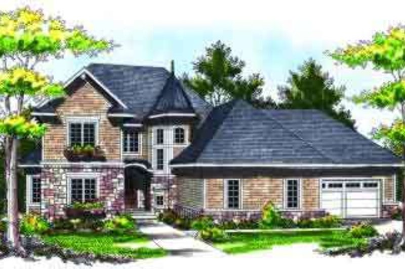 Dream House Plan - European Exterior - Front Elevation Plan #70-734