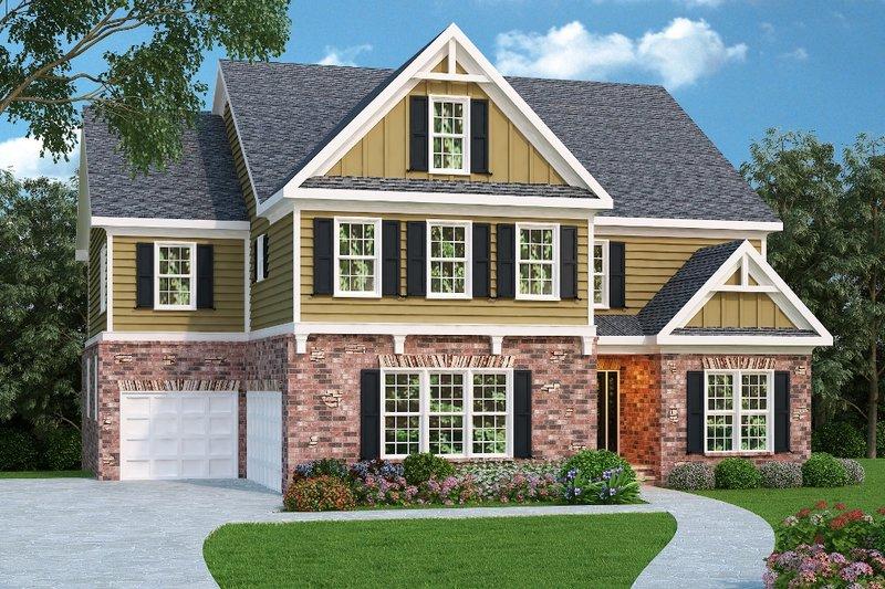 Craftsman Exterior - Front Elevation Plan #419-194