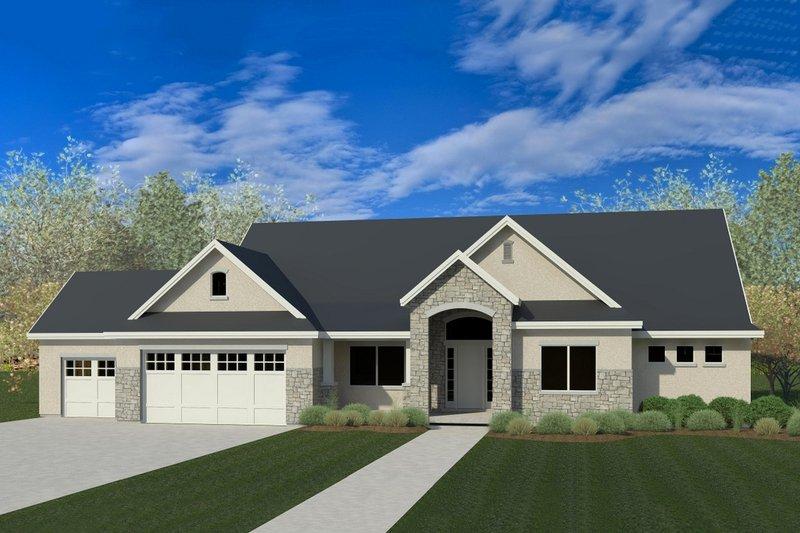 Home Plan - Craftsman Exterior - Front Elevation Plan #920-45