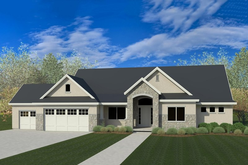 Craftsman Exterior - Front Elevation Plan #920-45