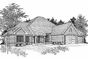 Traditional Style House Plan - 3 Beds 2 Baths 1916 Sq/Ft Plan #70-276 Exterior - Front Elevation