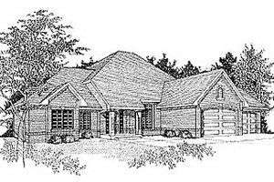 Traditional Exterior - Front Elevation Plan #70-276