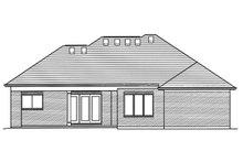 Ranch Exterior - Rear Elevation Plan #46-876