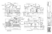 European Style House Plan - 3 Beds 3 Baths 2120 Sq/Ft Plan #47-216 Exterior - Rear Elevation