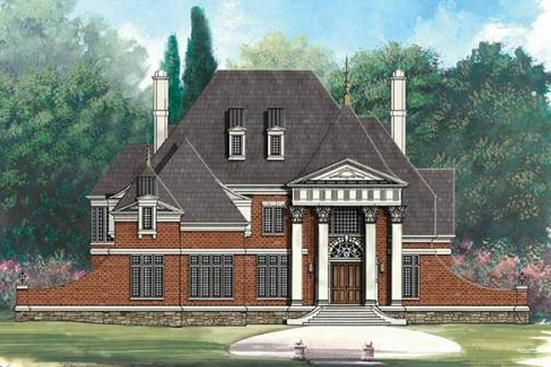 Classical Exterior - Front Elevation Plan #119-230