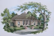 Traditional Style House Plan - 3 Beds 2 Baths 2000 Sq/Ft Plan #45-309 Exterior - Front Elevation
