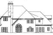 European Style House Plan - 4 Beds 3.5 Baths 3543 Sq/Ft Plan #119-296 Exterior - Rear Elevation