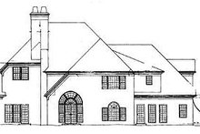 European Exterior - Rear Elevation Plan #119-296