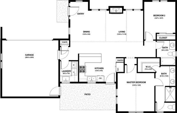 Craftsman Floor Plan - Main Floor Plan #895-57