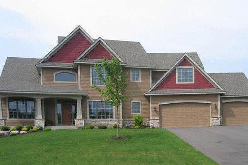 Craftsman Exterior - Front Elevation Plan #56-588