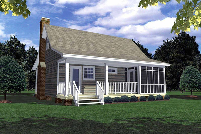 Cabin Exterior - Rear Elevation Plan #21-108 - Houseplans.com