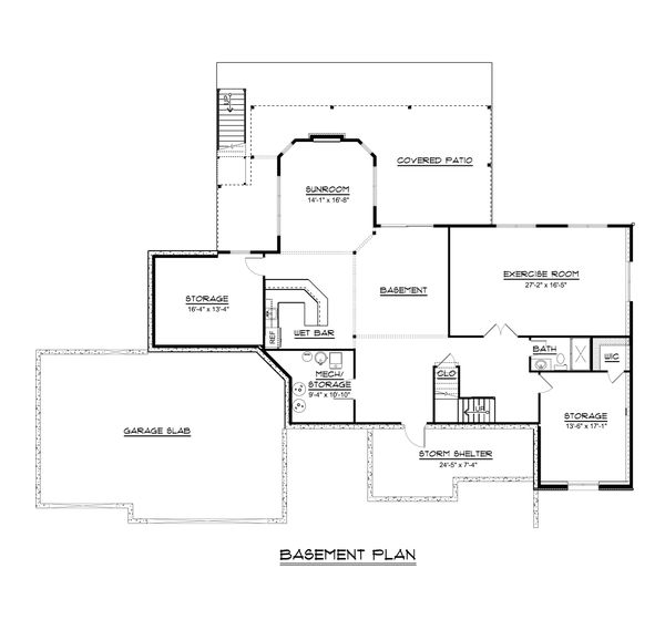 Dream House Plan - Craftsman Floor Plan - Lower Floor Plan #1064-71