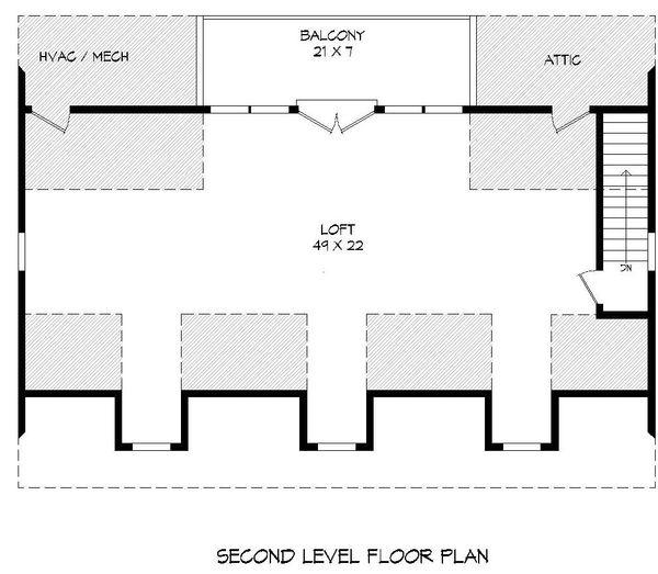 Country Floor Plan - Upper Floor Plan #932-184