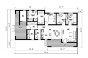 Modern Style House Plan - 3 Beds 2 Baths 1418 Sq/Ft Plan #549-4 Floor Plan - Main Floor