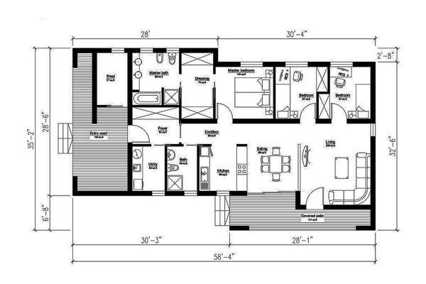 Modern Floor Plan - Main Floor Plan #549-4