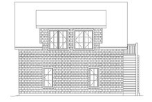 House Plan Design - Country Exterior - Rear Elevation Plan #22-545