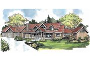 Craftsman Style House Plan - 3 Beds 5.5 Baths 6309 Sq/Ft Plan #124-691 Exterior - Front Elevation